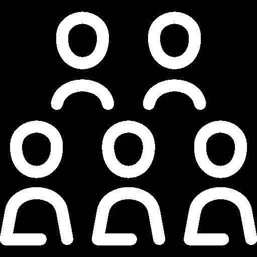 Ikona kilku ludków konturowych